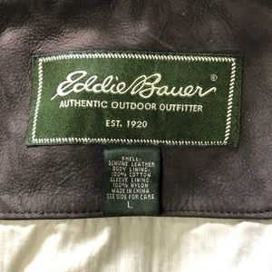 EDDIE BAUER BROWN BUTTER SOFT LEATHER
